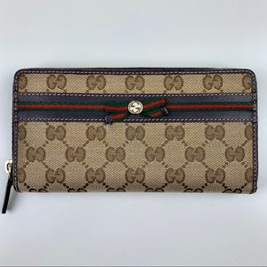 Gucci Stripe Zip Wallet